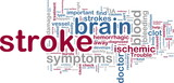 Stroke wordcloud poster