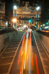 Night traffic near Grand Central