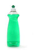 Green Dishwashing Liquid Soap in a Bottle Isolated poster