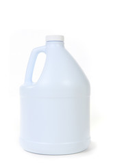 Blank White Bottle of Bleach Isolated