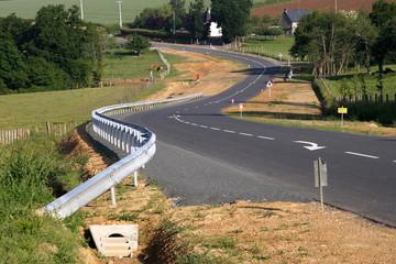 Travaux d'aménagement routier