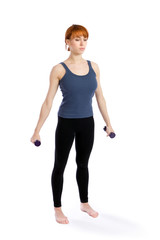 Fitness Woman with Dumbells