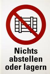 Abstellverbotschild
