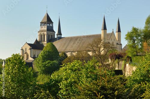 Leinwanddruck Bild Basilique de l'abbaye royale de Fontevraud