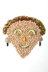 Food face lady smiling