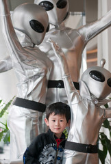 Young boy and alien
