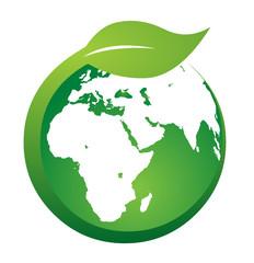 Leaf & Globe Logo