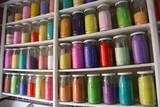 Colorful dye powder poster