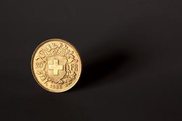 20 Francs Suisse - Fond noir