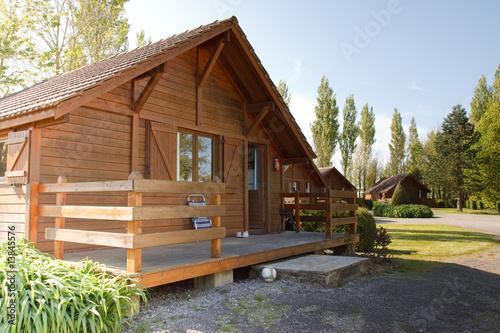 Leinwandbild Motiv Wooden house