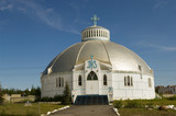 Famous Igloo church in Inuvik in Northwest Territories poster