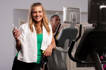 girl finishing cardio workout