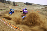 Motocross competiotin on dirty track
