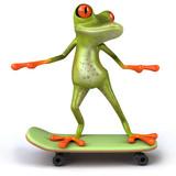 Fototapety Grenouille en skateboard