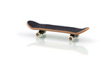 Finger skateboard isolated on white with reflection