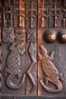Quadro african art wood carving design