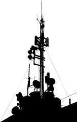 Towers, wired to wireless comm.