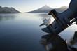 Leinwandbild Motiv Outboard reflection