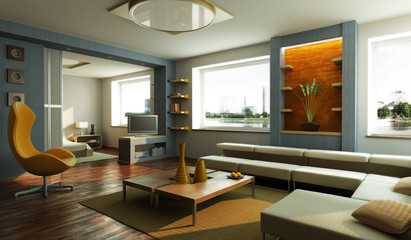 modern lounge room interior