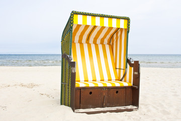 Beach chair at seaside