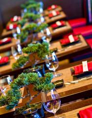Row of Bonsai Tables