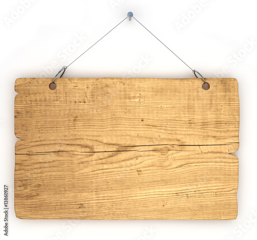 Old wood notice board