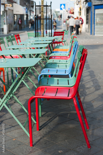 colorful terrace in the city