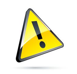 Triangle jaune danger / attention