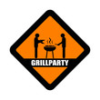 schild grillparty (aussuchen)