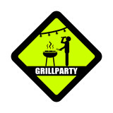 schild grillparty (trinken)