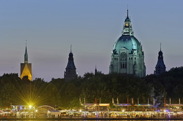 Hannover, Rathaus, Marktkierche, Maschseefest