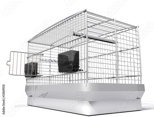 cage d 39 oiseau from art3007 royalty free stock photo 13869158 on. Black Bedroom Furniture Sets. Home Design Ideas