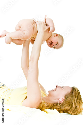 mother plays with child