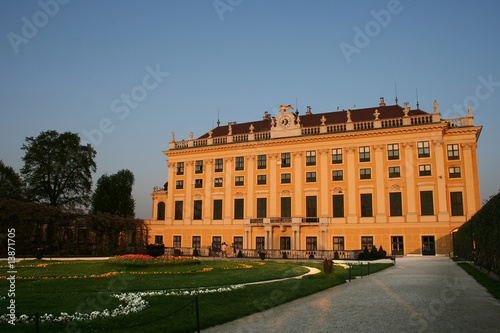 beautiful palace of Schönbrunn in Vienna / Austria