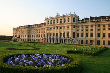 beautiful castle of Schönbrunn in Vienna