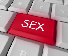 Sex Key on Computer Keyboard