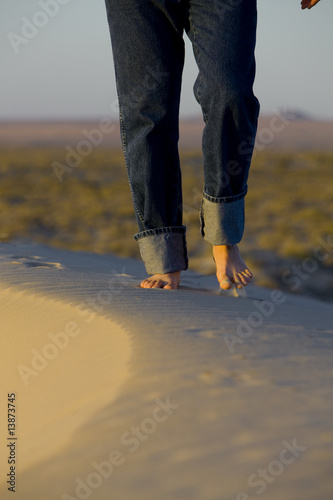 Walking in Desert