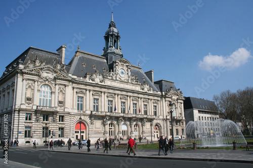 Leinwanddruck Bild Hotel de ville de Tours