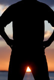 Determination Silhouette poster
