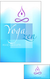 Yoga and meditation brochure poster