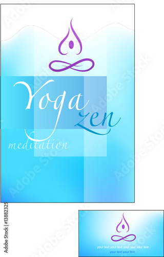 Yoga and meditation brochure