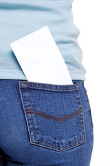 Back pocket with blank paper