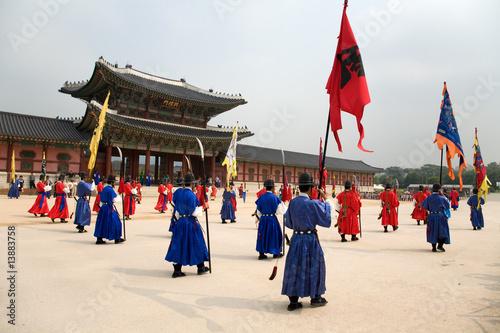 Poster Wachaufzug am Changdeokgung Palace in Seoul