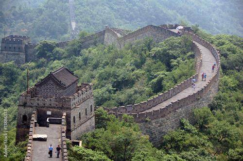 Foto op Canvas Chinese Muur Grande muraille de Chine, Mutianyu