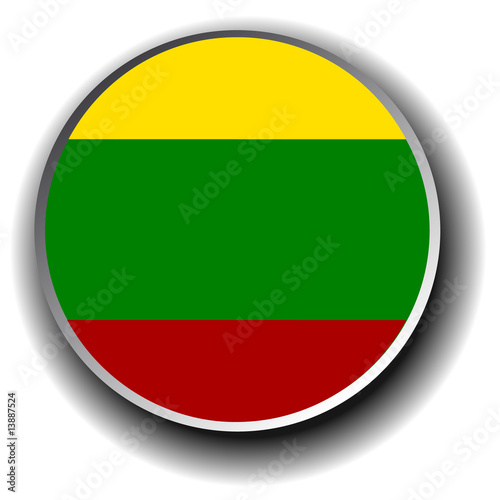 lithuania flag icon - vector illustration