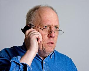 Older Man Shocked on Phone