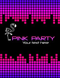 Pink retro background for music and party