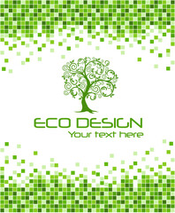 Ecological mosaic background