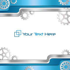 Blue business background with gears