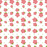 Pink Flower Seamless Tile